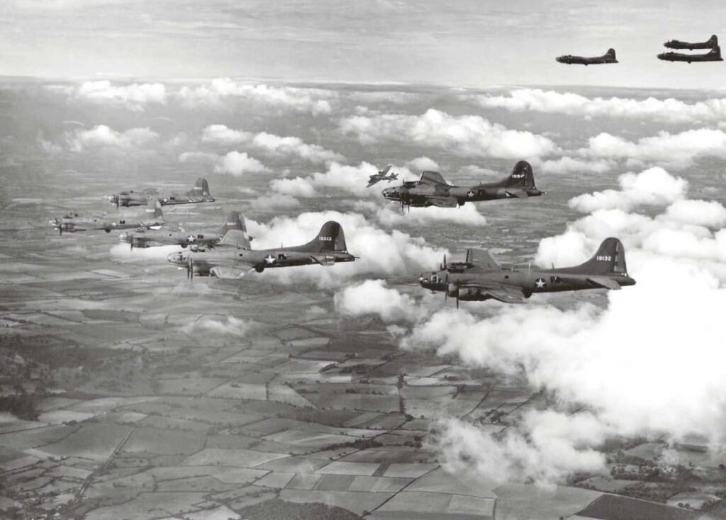 B-17 in training on France