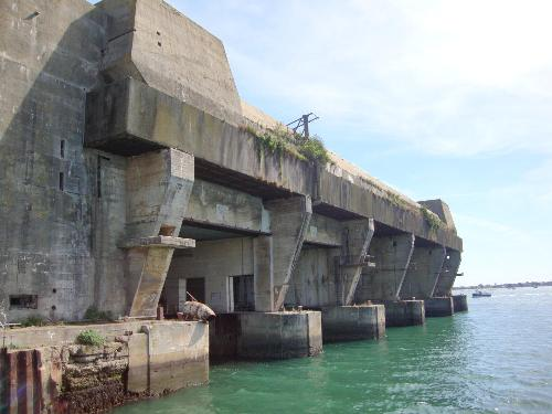 The submarine base today in Lorient in France.
