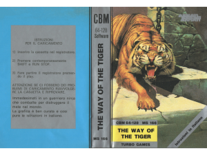 MS 166 THE WAY OF THE TIGER