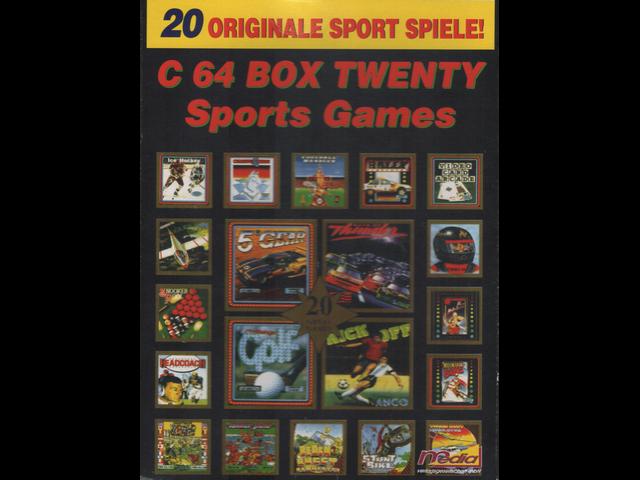 C64 Box Twenty Sports Games